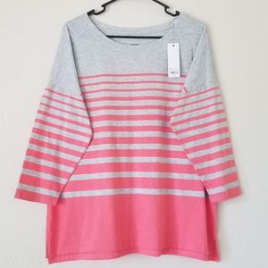 Striped half sleeve shirt